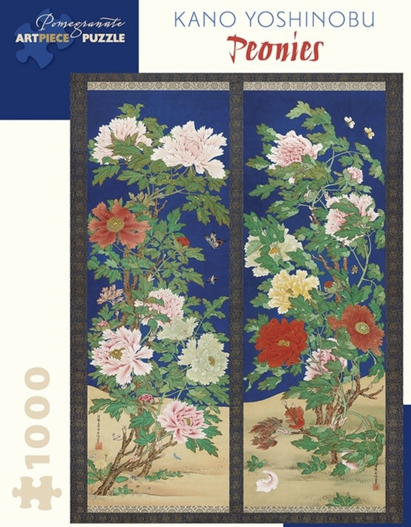 Pomegranate 1000 pc Kano Yoshinobu: Peonies Puzzle