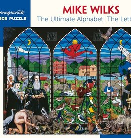 Pomegranate 500 pc Mike Wilks: The Ultimate Alphabet: The Letter W Puzzle