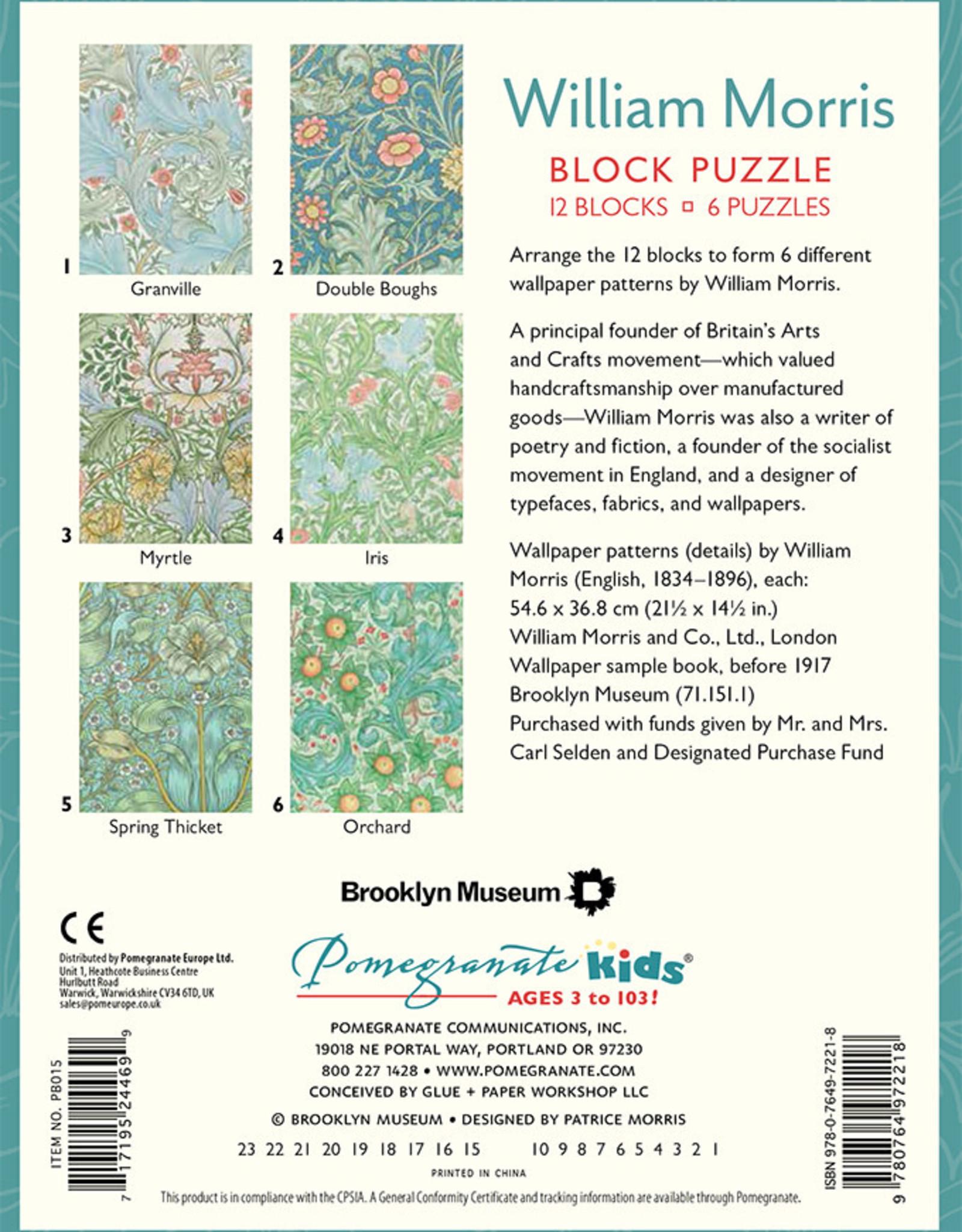 Pomegranate William Morris Block Puzzle