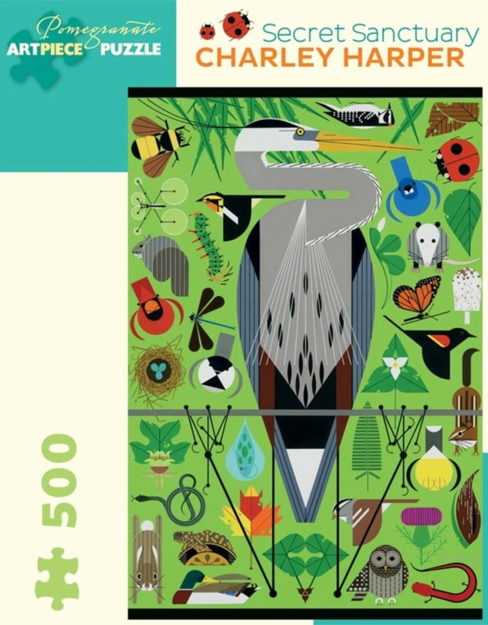 Pomegranate 500 pc Charley Harper: Secret Sanctuary Puzzle