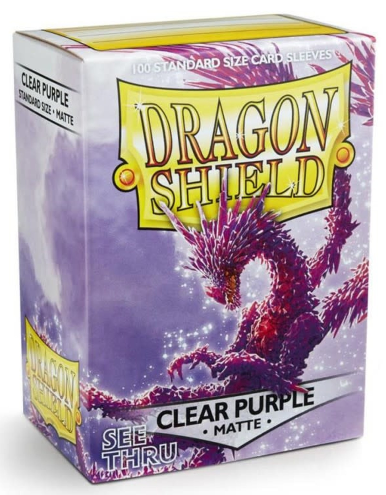 Dragon Shields (100) Matte - Clear (Purple)