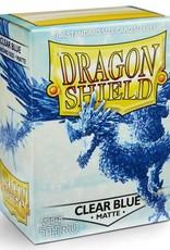 Dragon Shields (100) Matte - Clear (Blue)