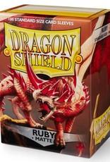 Dragon Shields (100) Matte - Ruby