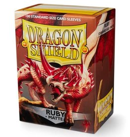 Dragon Shields (100) Matte - Ruby