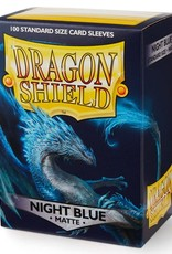 Dragon Shields (100) Matte - Night Blue