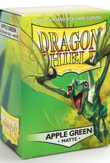 Dragon Shields (100) Matte - Apple Green