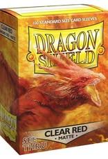 Dragon Shields (100) Matte Clear (Red)