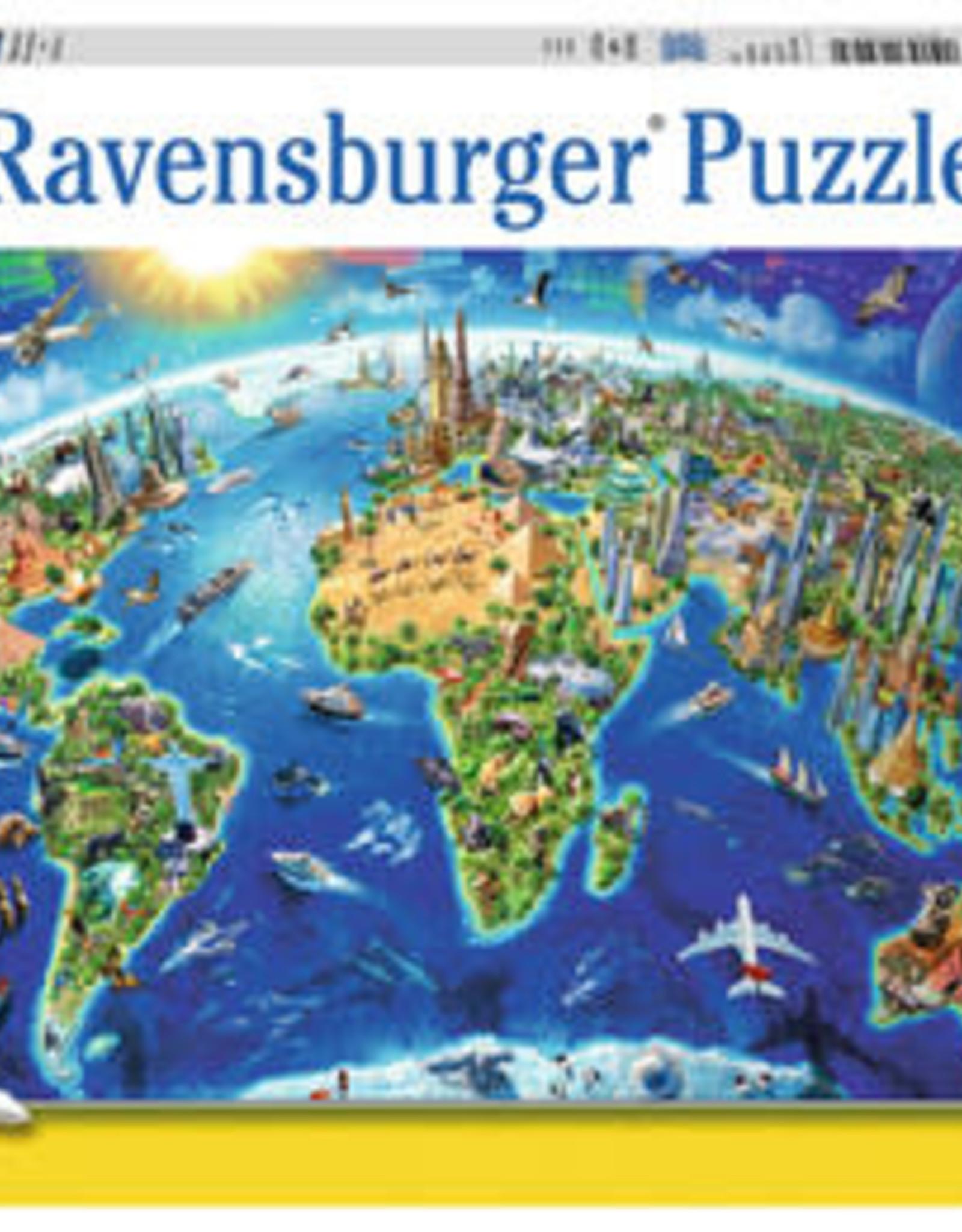 Ravensburger Puzzle 300 pc XXL: World Landmarks Map XXL 300p