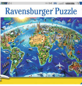 Ravensburger Puzzle 300 pc XXL: World Landmarks Map XXL 300p