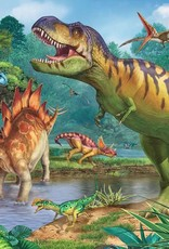 Ravensburger Puzzle 100 pc + Coloring Book: World of Dinosours