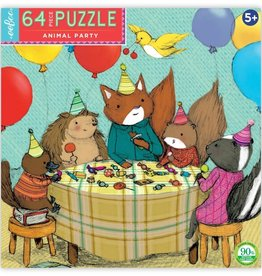 Eeboo Animal Party 64 Pc Puzzle