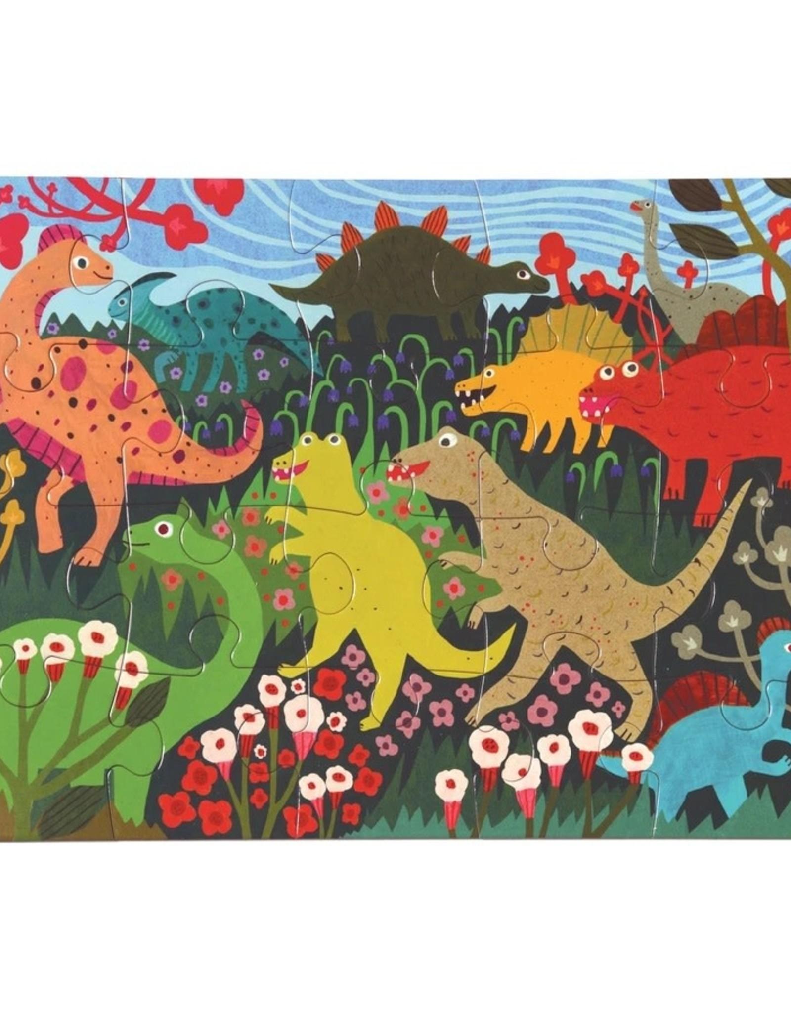 Eeboo Dinosaur Meadow 20 Piece Puzzle