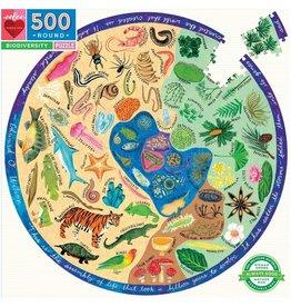 Eeboo 500 Piece Biodiversity Round Puzzle