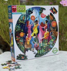 Eeboo Moon Dance 500 Pc Round Puzzle
