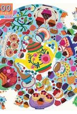 Eeboo 500 pc Round Tea Party Puzzle