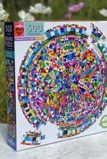 Eeboo Triangle Pattern 500 Piece Round Puzzle