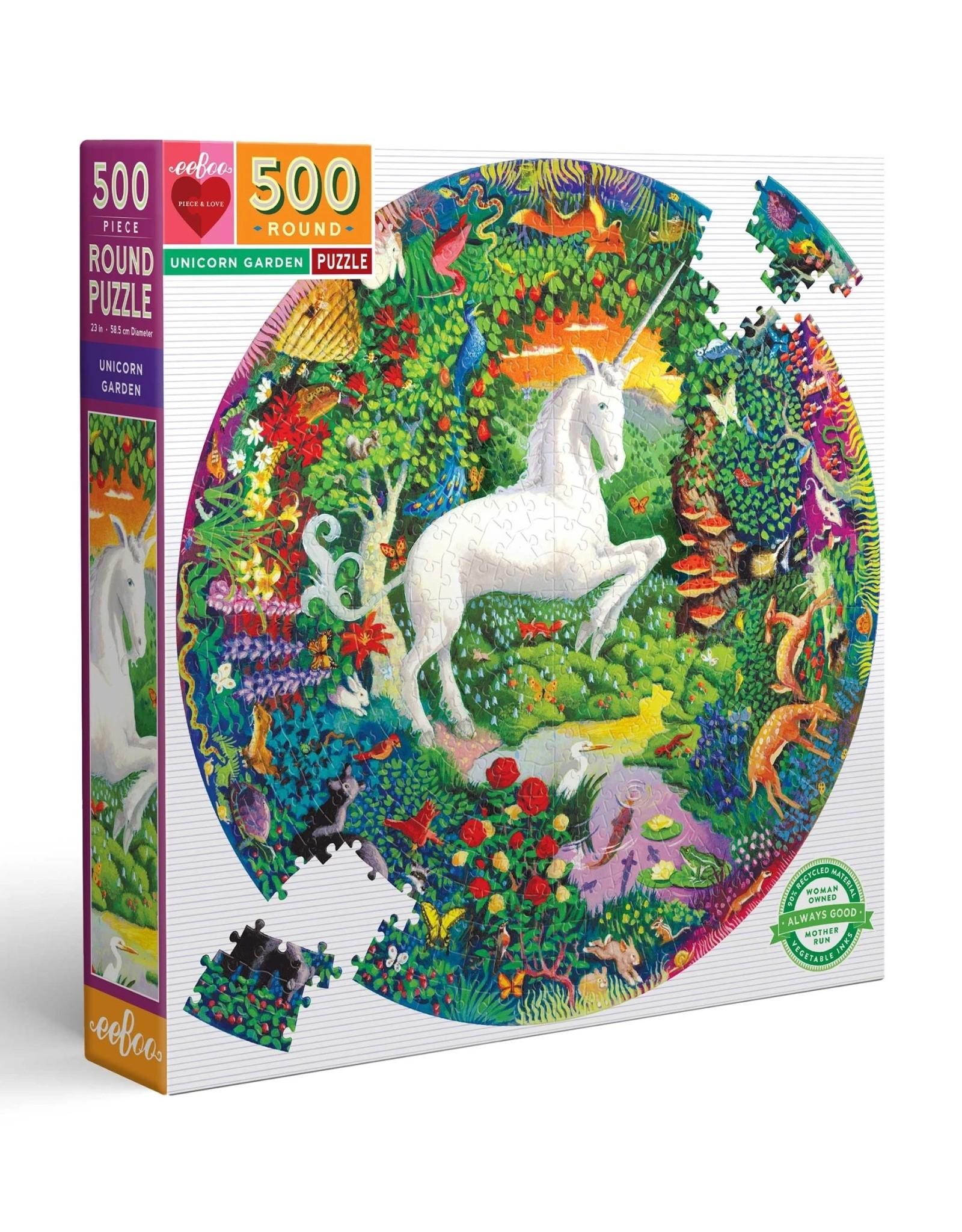 Eeboo Unicorn Garden 500 Piece Puzzle