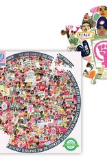 Eeboo Women March! 500 Piece Round Puzzle