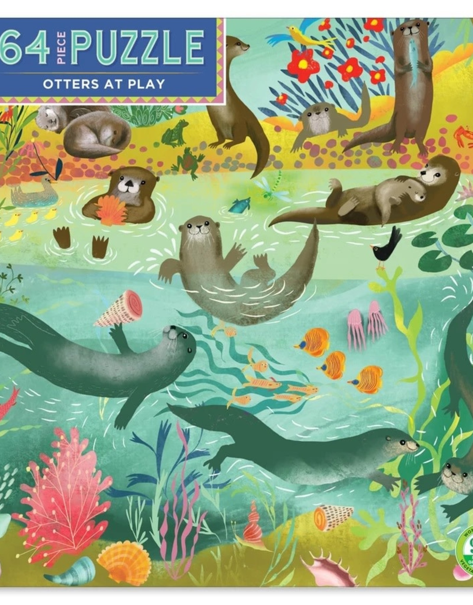 Eeboo Otters at Play 64 Piece Puzzle