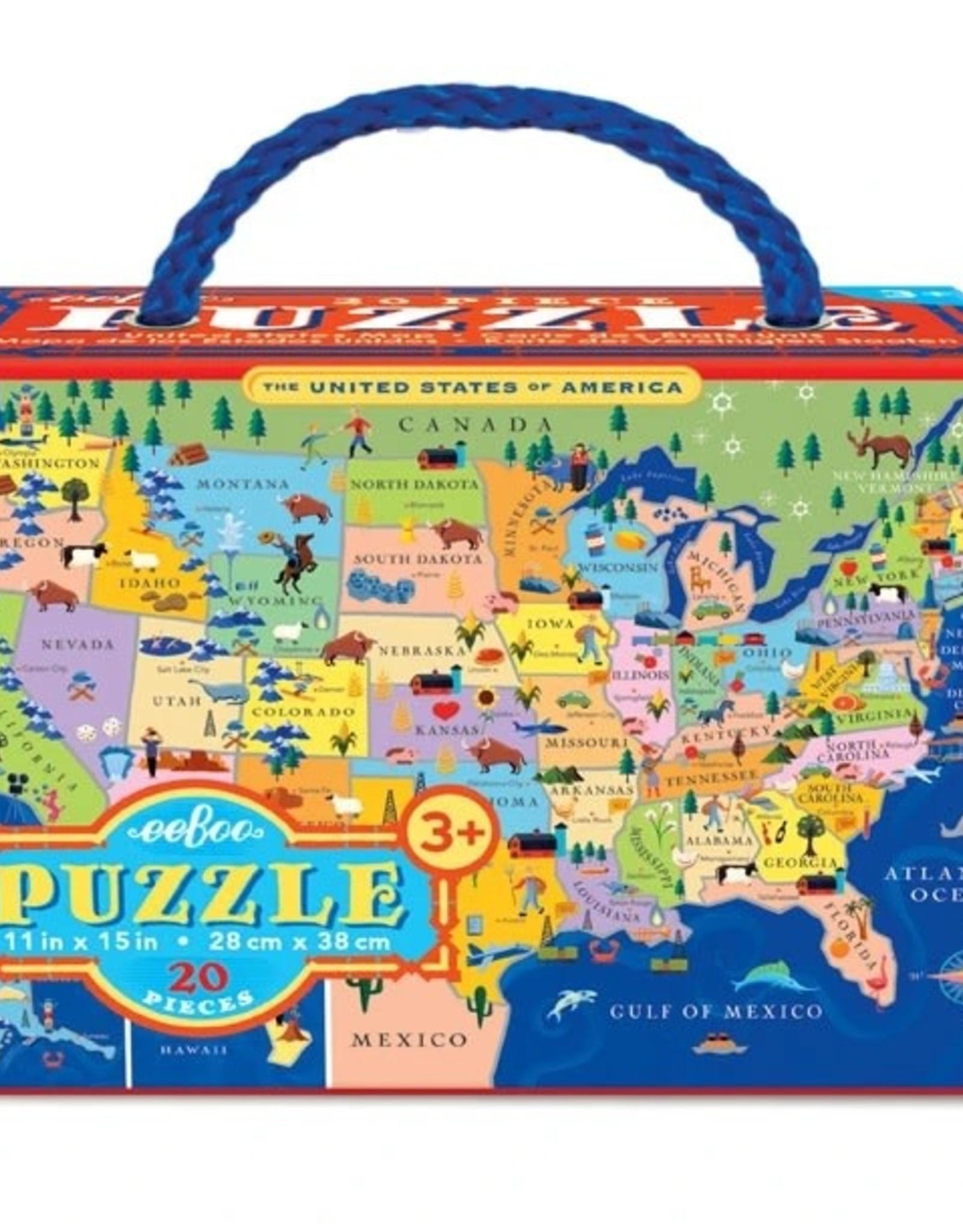 Eeboo United States 20 Piece Puzzle