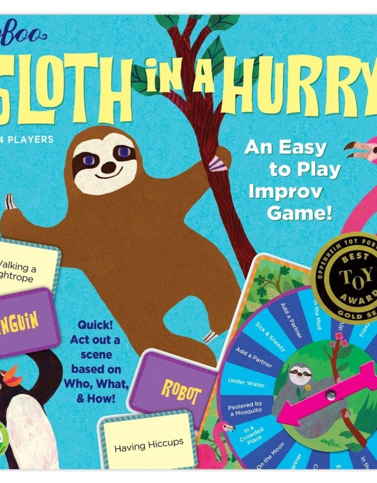 Eeboo Sloth in a Hurry Action Game