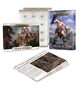 Games Workshop Warhammer AoS: WARSCROLL CARDS: SONS OF BEHEMAT (ENG)