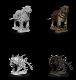 Wizkids D&D Mini: NM Primed: Mastiff & Shadow Mastiff