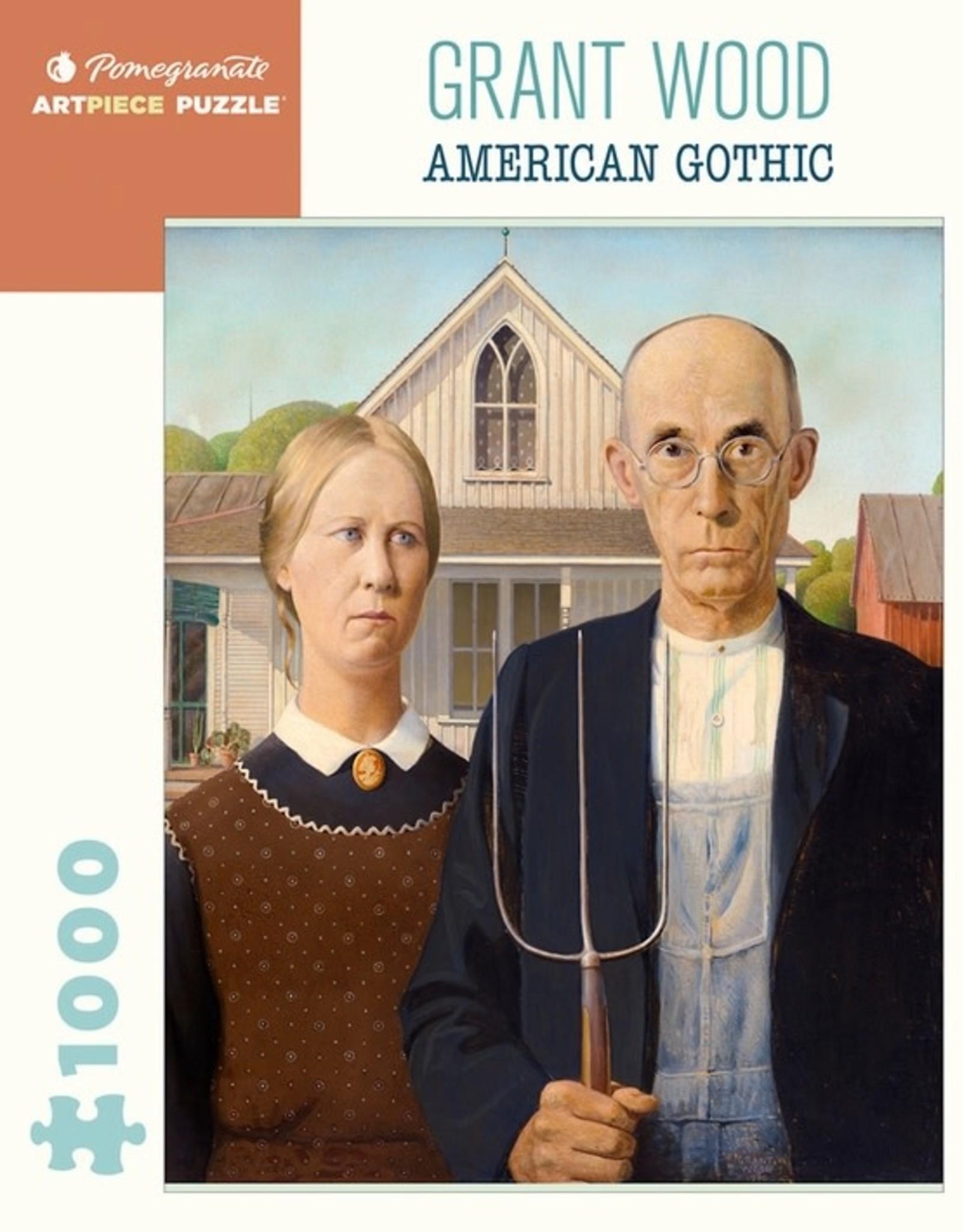 Pomegranate 1000 pc Grant Wood: American Gothic Puzzle