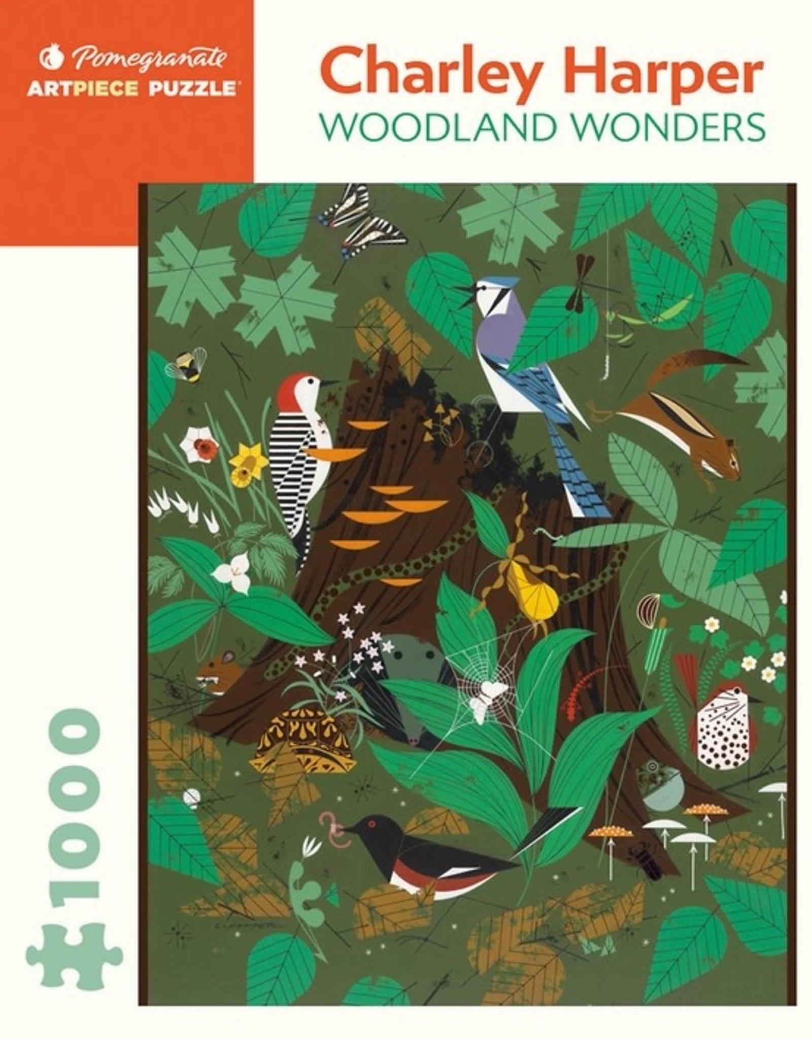 Pomegranate 1000 pc Charley Harper: Woodland Wonders Puzzle