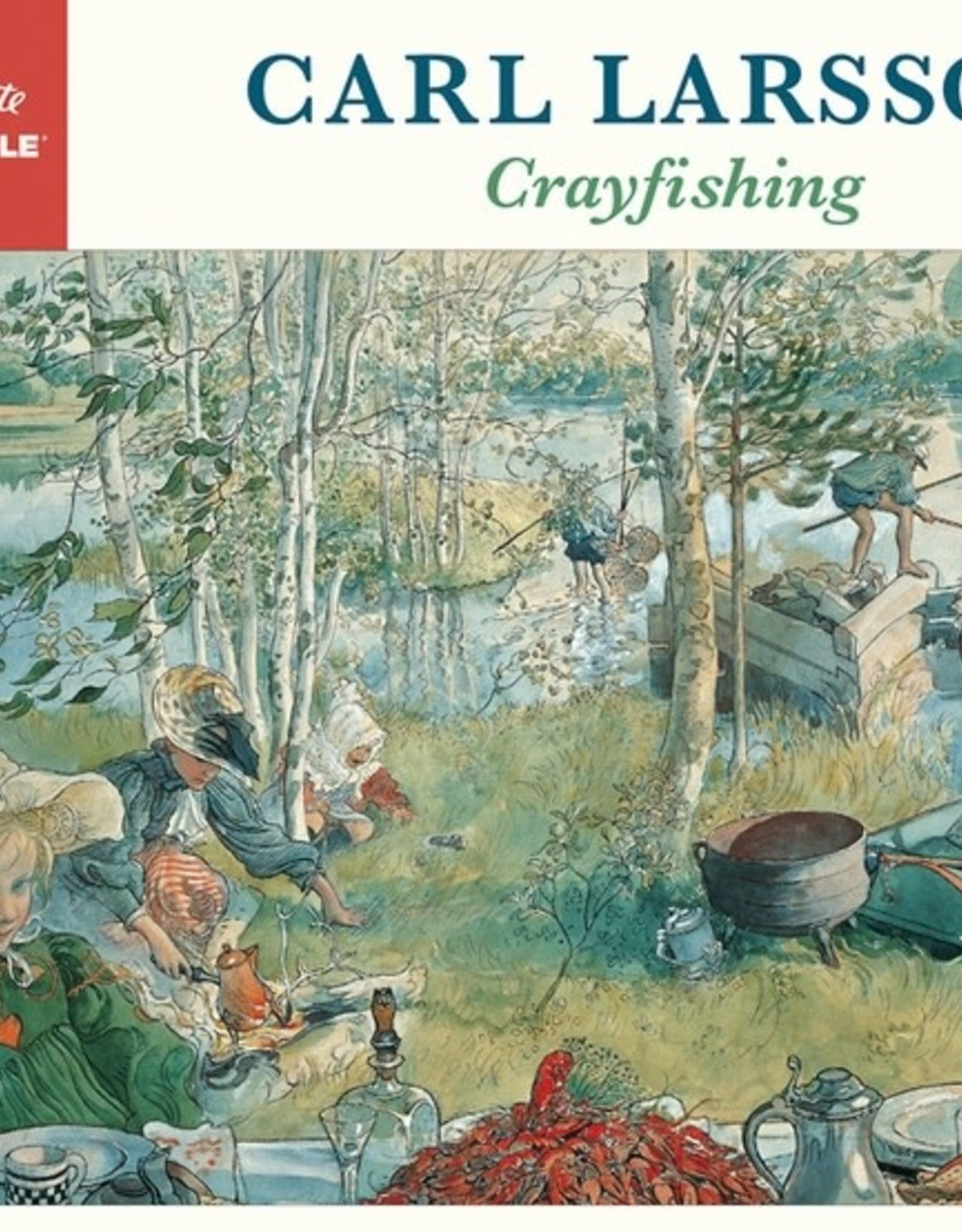 Pomegranate 1000 pc Carl Larsson: Crayfishing Puzzle