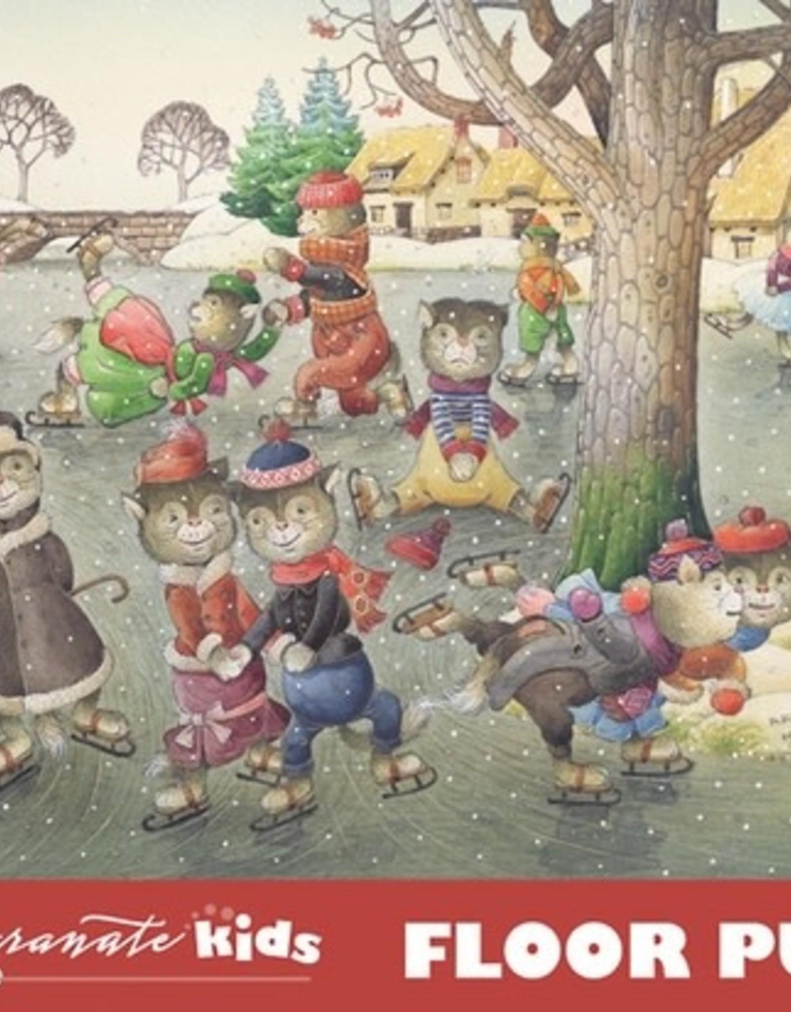 Pomegranate 48 pc Kestutis Kasparavicius: Cats on Skates Floor Puzzle