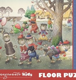 Pomegranate 48 pc Kestutis Kasparavicius: Cats on Skates Floor Puzzle
