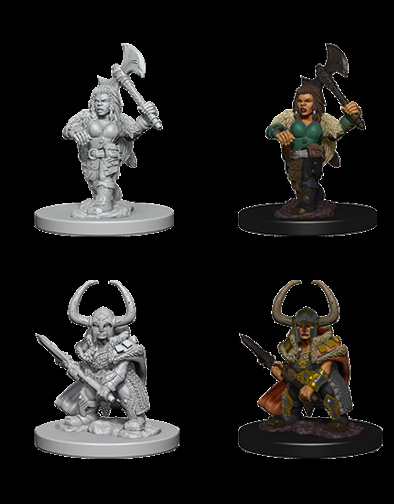 Wizkids D&D Mini: NM Primed: Dwarf Female Barbarian