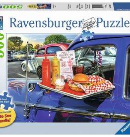 Ravensburger Puzzle 500 Pc LF: Drive-Thru Route 66