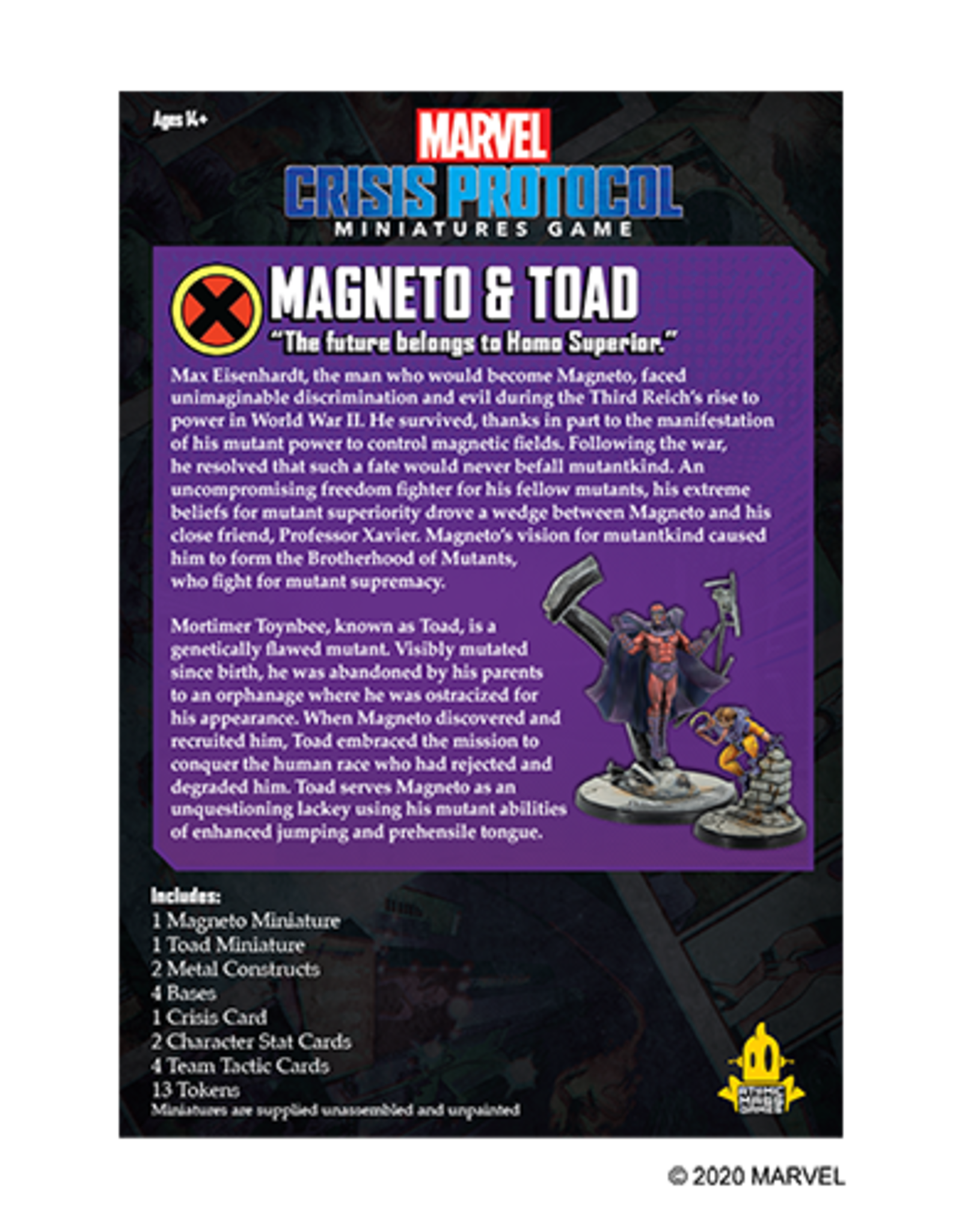 Atomic Mass Marvel Crisis Protocol: Magneto and Toad