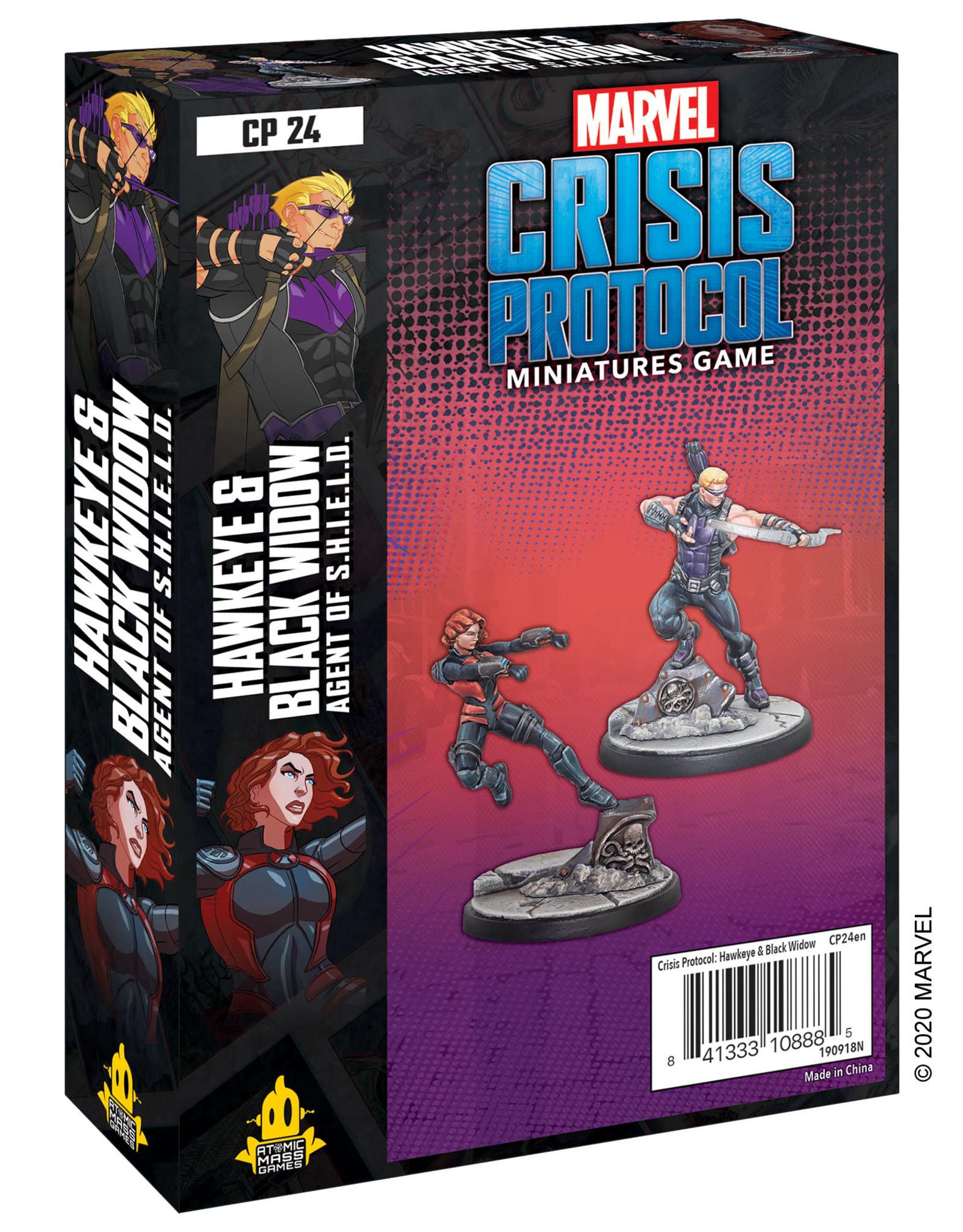Atomic Mass Marvel Crisis Protocol: Hawkeye and Black Widow