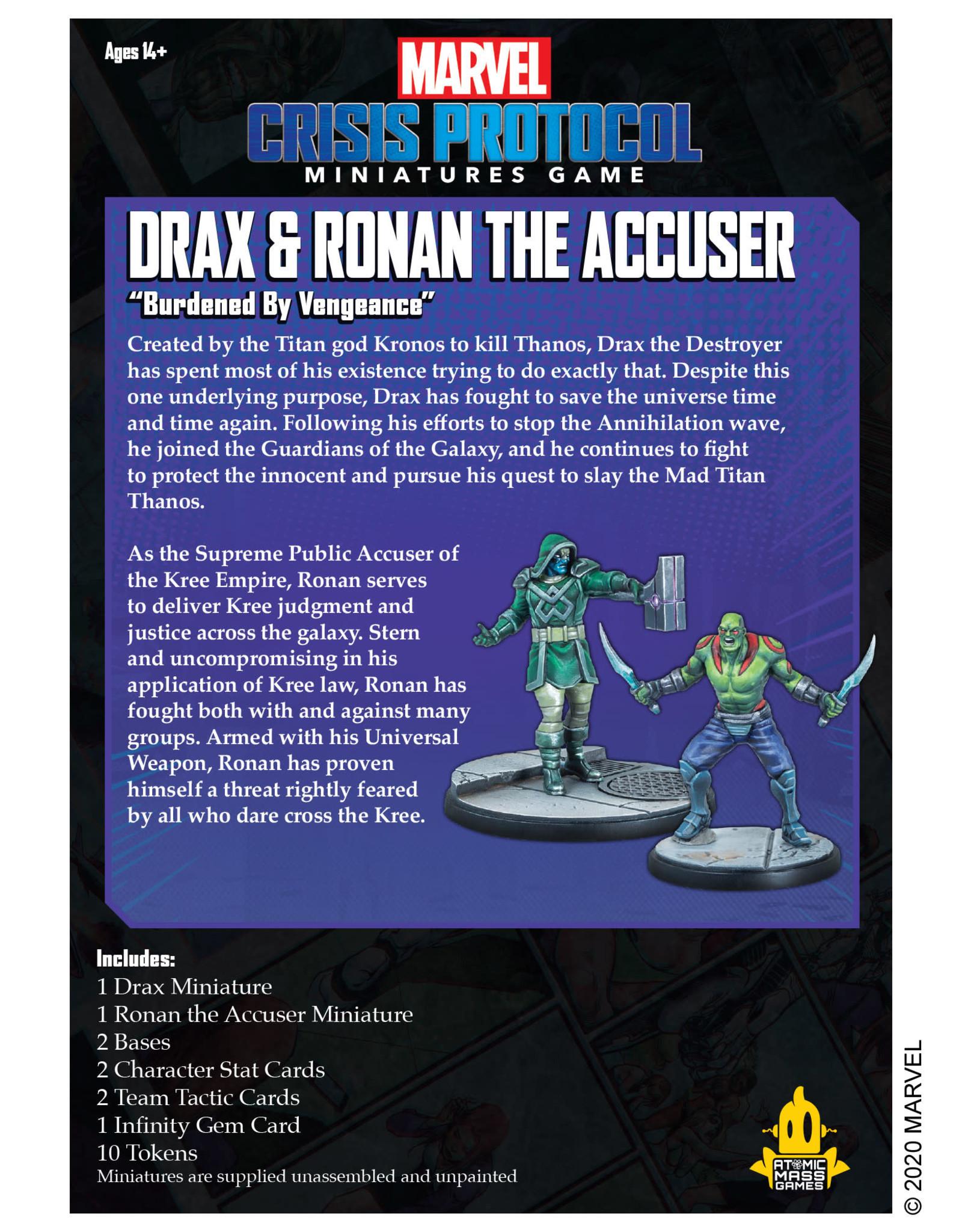 Atomic Mass Marvel Crisis Protocol: Drax and Ronan the Accuser