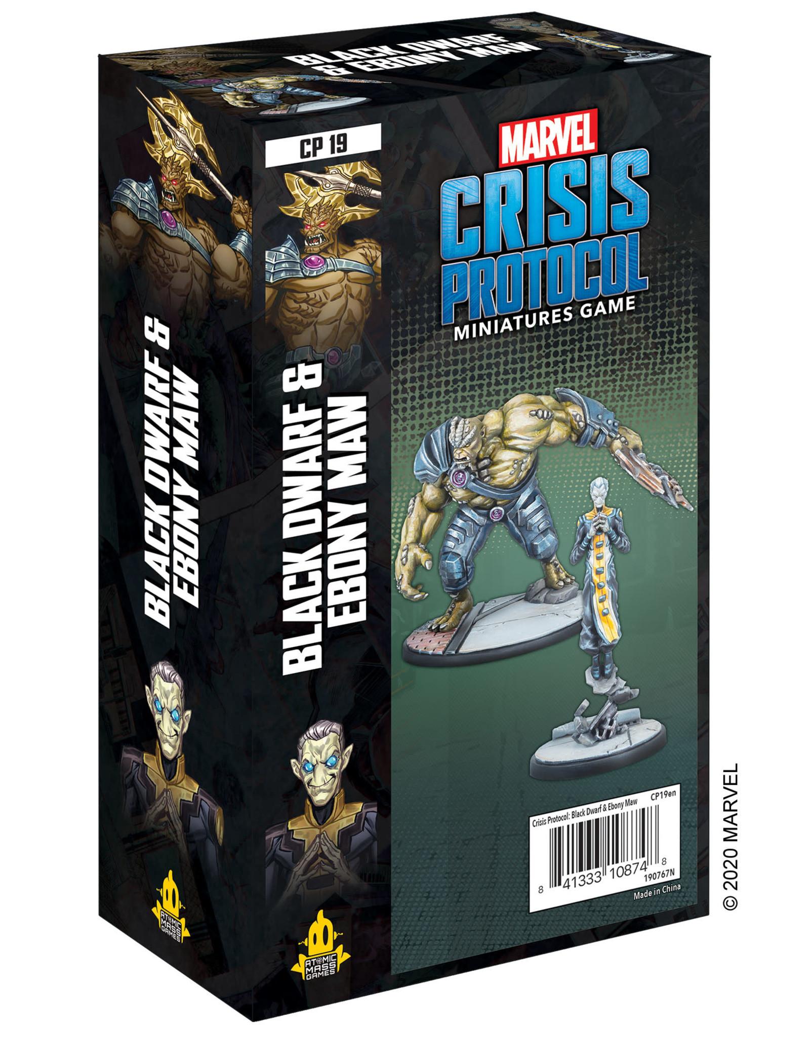 Atomic Mass Marvel Crisis Protocol Black Dwarf and Ebony Maw