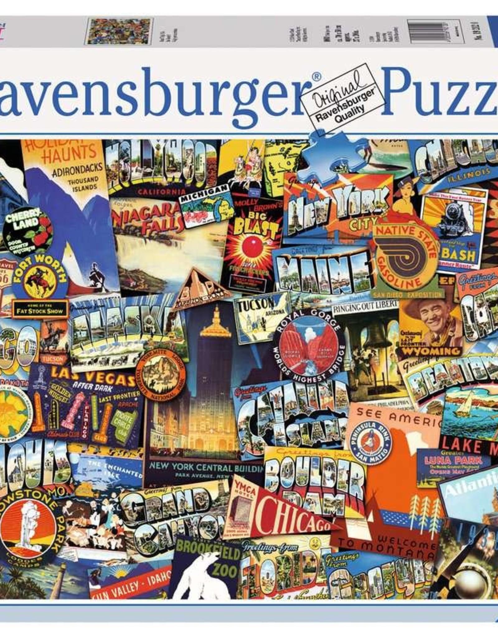 Ravensburger Puzzle 1000 pc: Road Trip USA