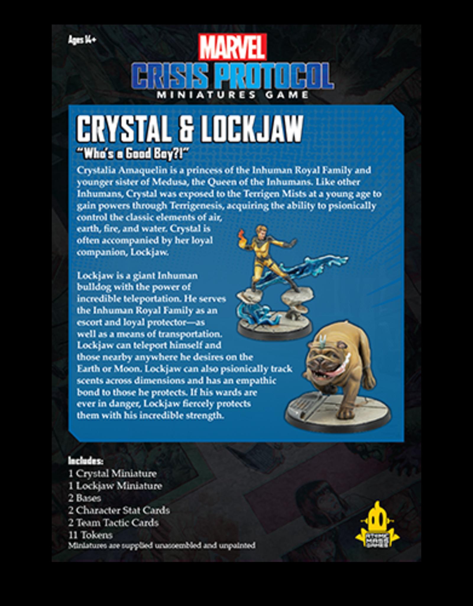 Atomic Mass Marvel Crisis Protocol: Crystal and Lockjaw
