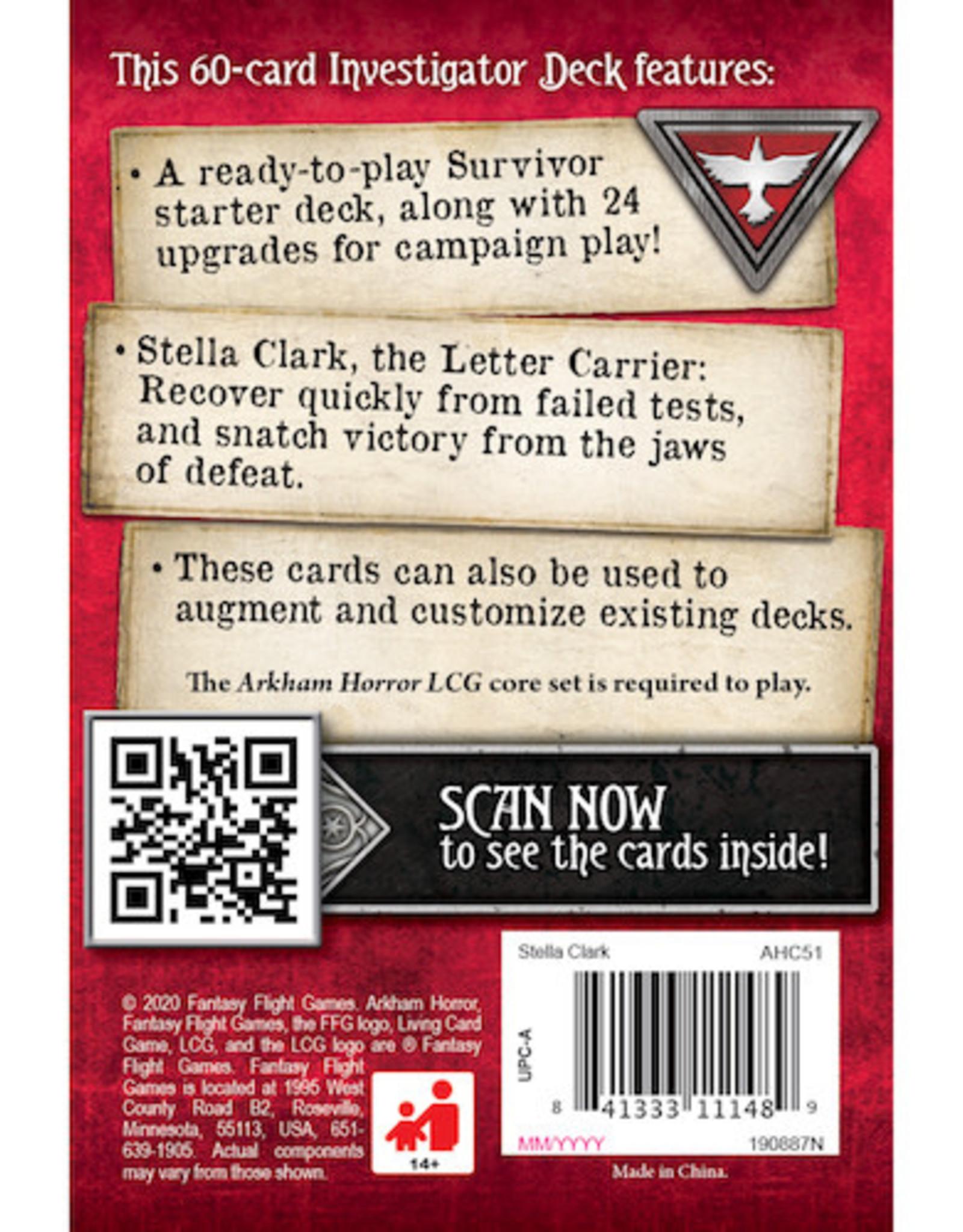FFG Arkham Horror LCG: Stella Clark Investigator Starter Deck