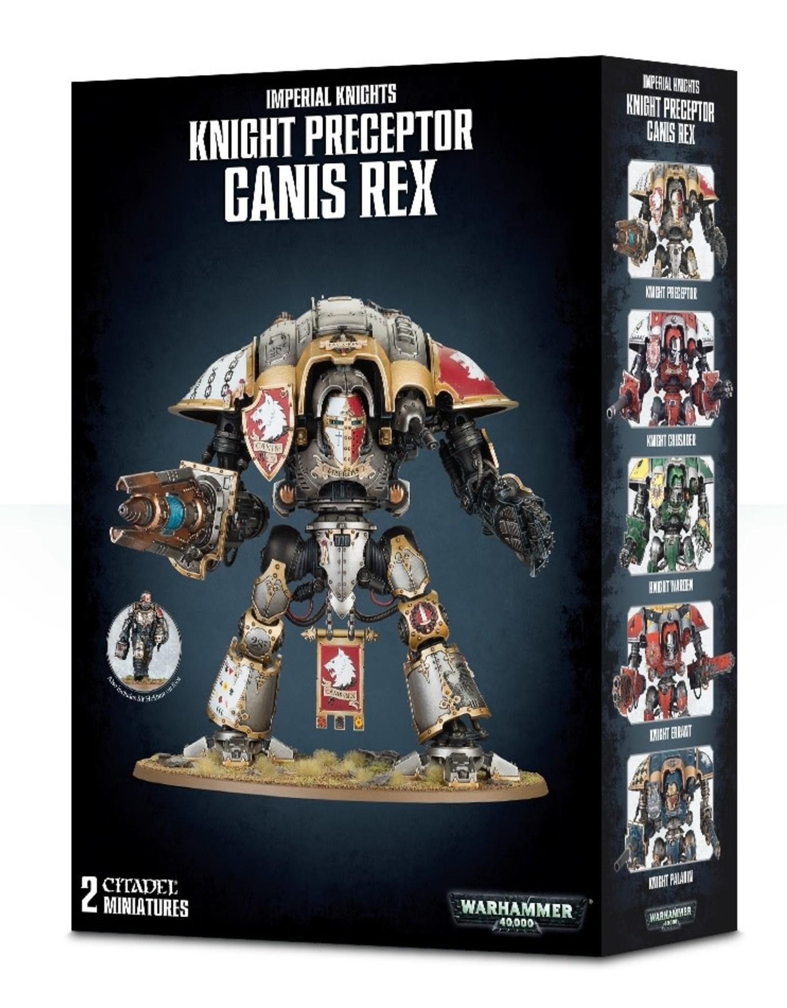 Games Workshop Warhammer 40K: Imperial Knights Knight Preceptor Canis Rex