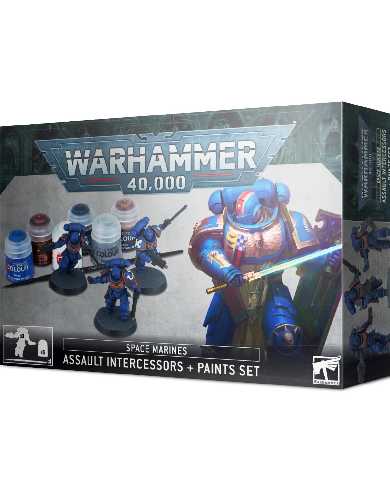 Games Workshop Warhammer 40K Space Marines Assault Intercessors + Paint Set