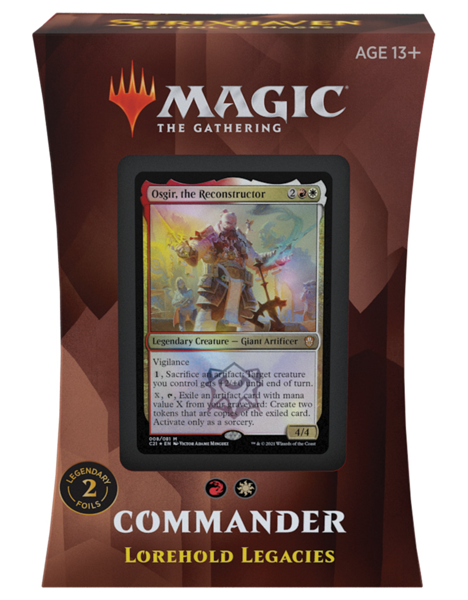WOTC Commander 2021 Strixhaven: Lorehold Legacies
