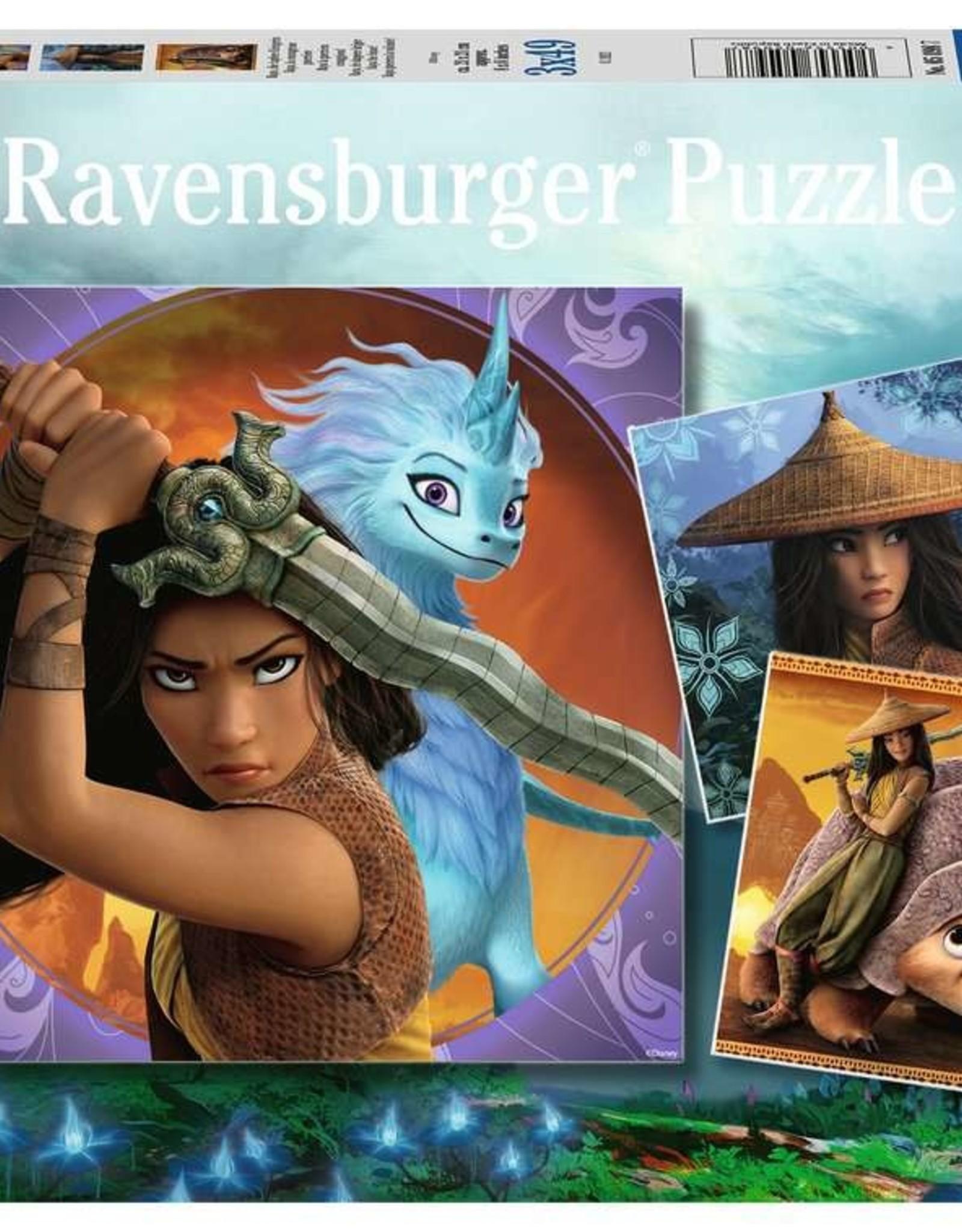 Ravensburger 3x49 Puzzle: Raya the Brave!