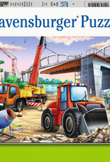 Ravensburger 2x24 Puzzle: Construction and Cars