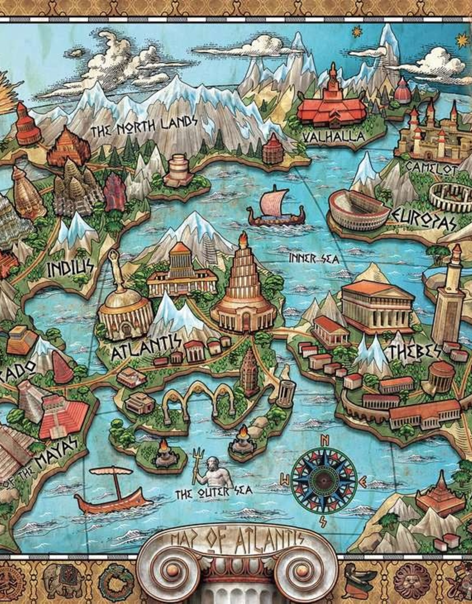 Ravensburger Puzzle 1000pc: Mysterious Atlantis