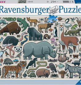 Ravensburger Puzzle 1000pc: You Wild Animal