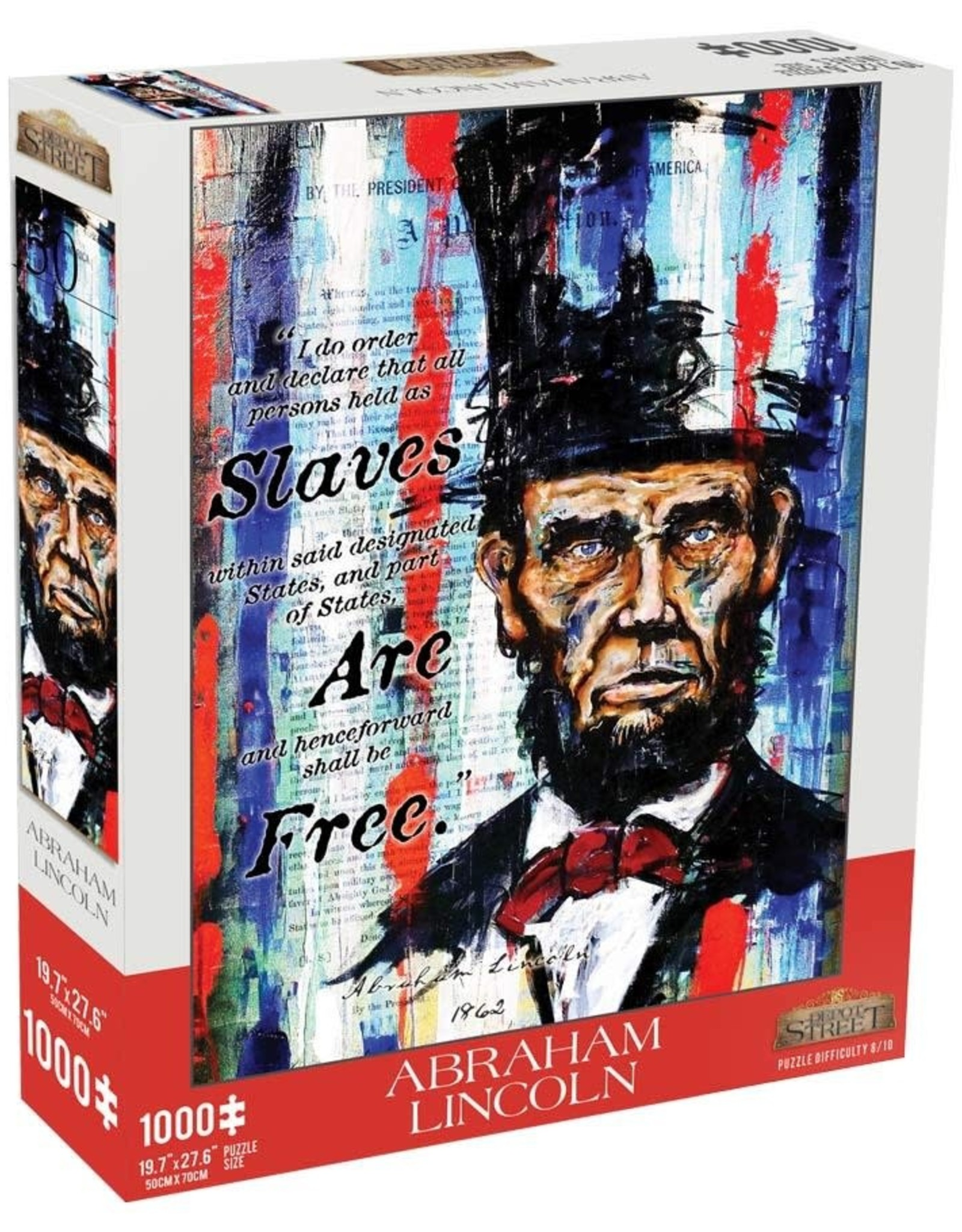 Depot Street Puzzles 1000pc Abraham Lincoln