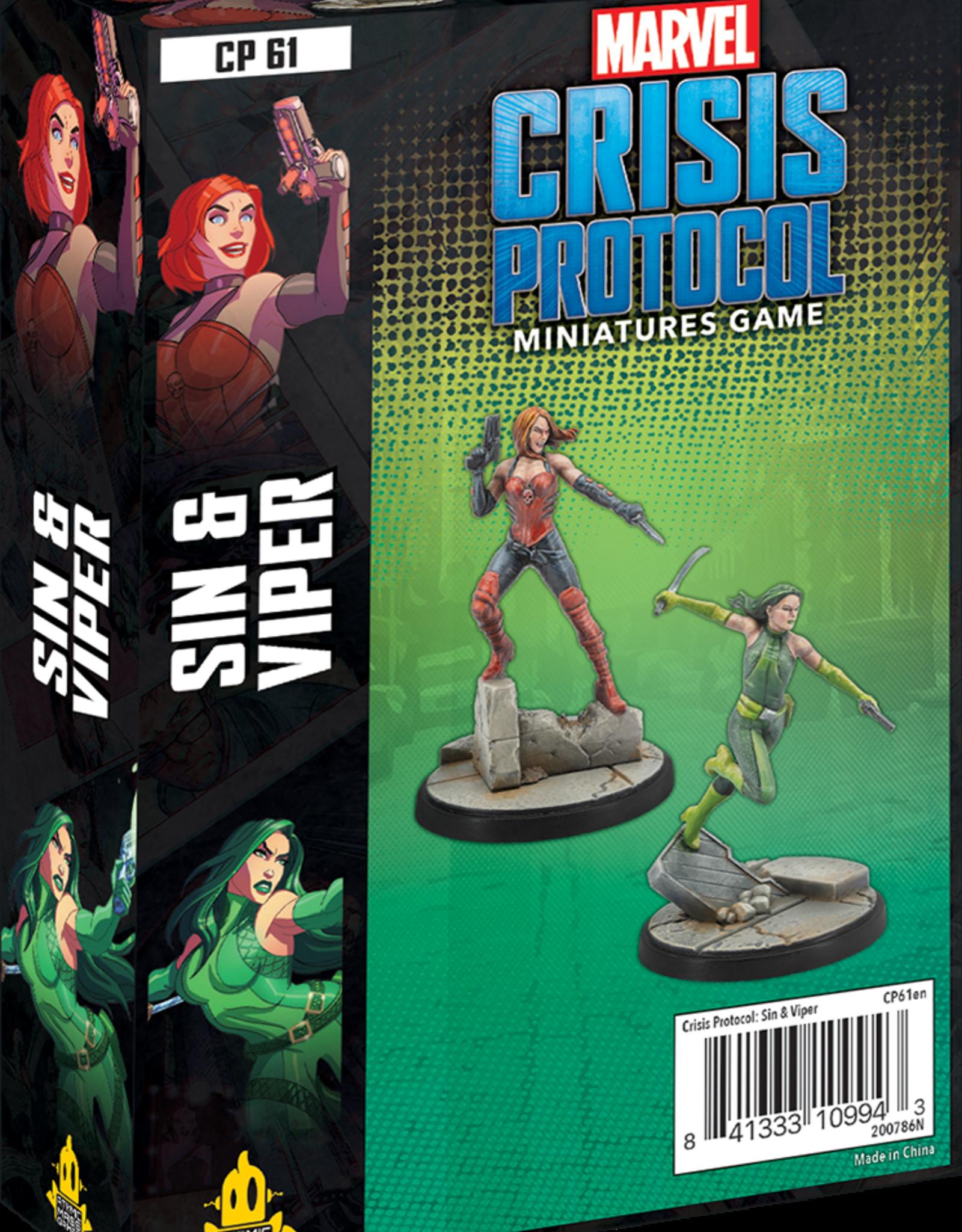 Atomic Mass Marvel Crisis Protocol: Sin and Viper